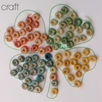 Fine Motor Rainbow Shamrock Craft {Free Shamrock Printable}