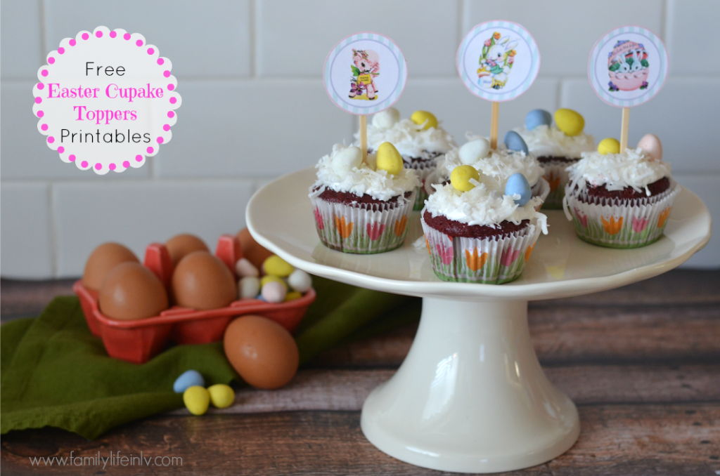 """""""Free Printable Cupcake Toppers"""" """"Easter Printable"""" """"Free Printable"""" """"Easter Cupcakes"""""""