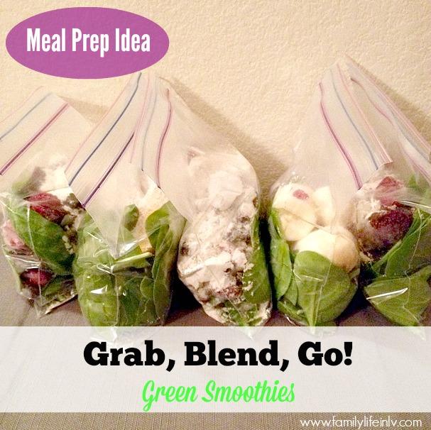 Meal Prep Idea - Make Ahead Smoothies