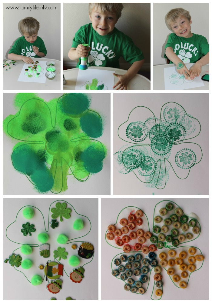 """Shamrock Craft"" ""Clover"" ""4 leaf clover"" ""Shamrock"" ""St. Pattys Day Craft"" ""St. Patrick's Day Craft"" ""Rainbow Shamrock"" ""Children's Crafts"" ""Fine Motor Skills Crafts"" ""Preschool Crafts"""