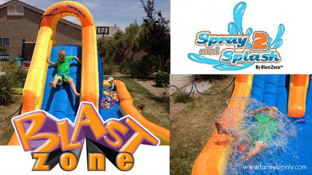 """Blast Zone"" ""Blast Zone Splash N Spray 2"" ""Blast Zone Splash N Spray 2 Review"" ""Blast Zone Review"" ""Waterslide"" ""Inflatable"" ""Backyard Inflatable"" ""Water Play"""