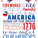 4th of July Subway Art | Free Printable