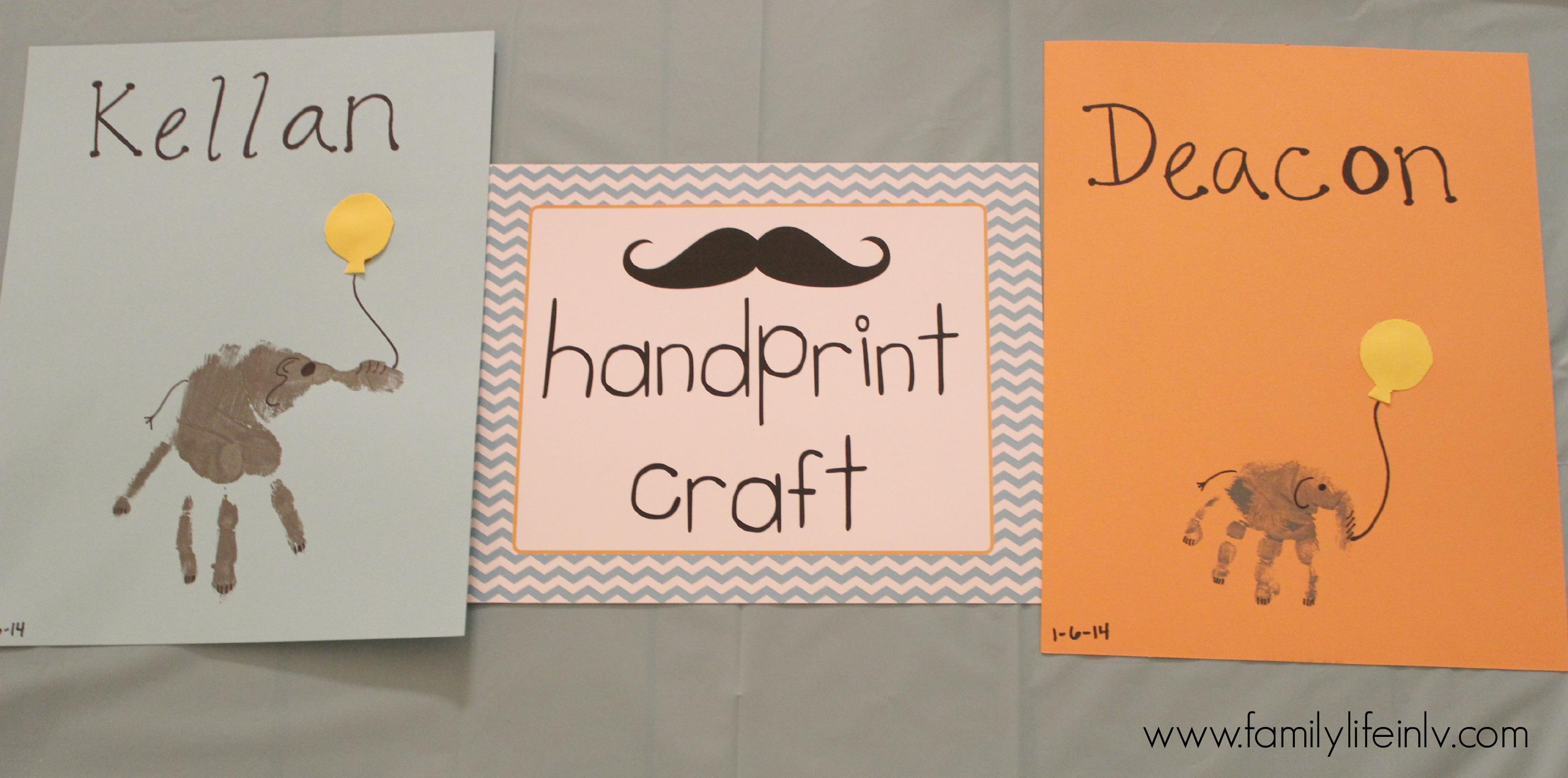 """handprint craft"" ""elephant handprint"" ""Birthday Party"" 'Elephant Birthday"" ""1st Birthday Party"" 'Elephant theme Birthday"" 'Birthday"" 'Baby Birthday"""