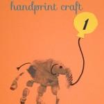 """handprint craft"" ""elephant handprint"" ""Birthday Party"" 'Elephant Birthday"" ""1st Birthday Party"" 'Elephant theme Birthday"" ""Birthday"" 'Baby Birthday"""