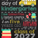 First Day of School Subway Art + Free Kindergarten Printable