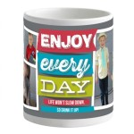 """Tiny Prints"" ""Free Mug"" ""Personalized Mug"" ""Enjoy Every Day"""