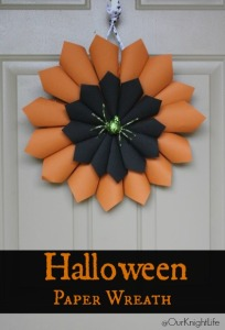 """Halloween Wreath"" ""Halloween Decorations"" ""Halloween DIY"" ""DIY Halloween Paper Wreath"" ""Paper Wreath"" ""Wreath Tutorial"" ""Halloween Crafts"""