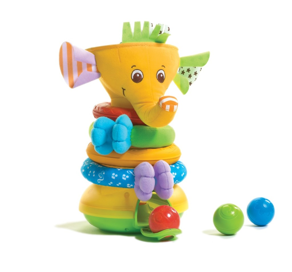"""""""Tiny Love Toys"""" """"Tiny Love Elephant"""" """"Stack and play"""" """"Gifts for Baby"""" """"Holiday Gift Guide"""""""