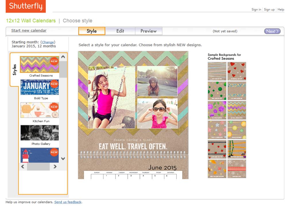 """""""Shutterfly"""" """"Shutterfly Wall Calendars"""" """"Personalized Calendar"""" """"Personalized Family Wall Calendar"""" """"Shutterfly Calendar"""""""