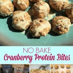 No Bake Cranberry Protein Bites {Move It Monday}