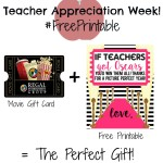 """teacher appreciation week"" Teacher gifts"" Teacher Gift Ideas"" ""Free Printable"""