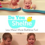 Shelfie – The Bathtub Shelf for Safer Play #Giveaway
