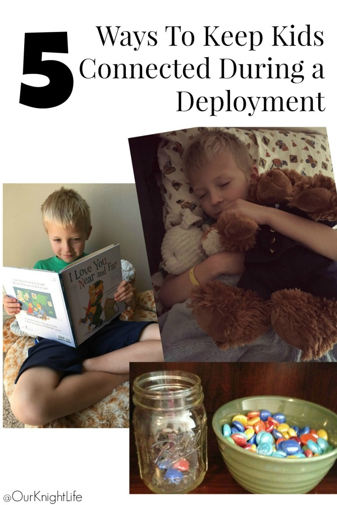 """5 Ways To Keep Kids Connected During a Deployment"" ""Duracell Teddy Bear"" ""Kids Books for Deployment"" ""Helping Kids Cope with Deployment"""
