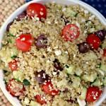 """""""Greek Quinoa Salad"""" """"Quinoa Salad"""" """"21 Day Fix"""" """"Healthy Salad"""" """"Healthy Side Dish"""" """"Mediterranean Quinoa Salad"""""""