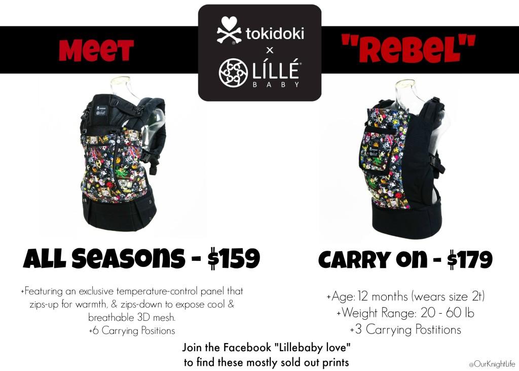"""""""Tokidoki"""" """"Tokidoki Rebel"""" """"Tokidoki Lillebaby"""" """"Lillebaby Tokidoki Carrier"""" """"Tokidoki Rebel"""""""