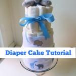 Easy Elephant Themed Diaper Cake