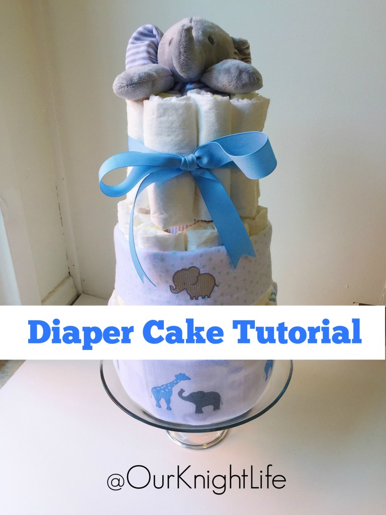 Elephant Diap er Cake Tutorial - How to make an easy and cute Diaper Cake
