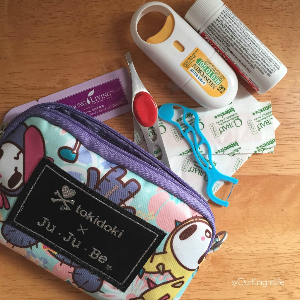 """""""Must Haves for a Park Playdate"""" """"First Aid Kit"""""""