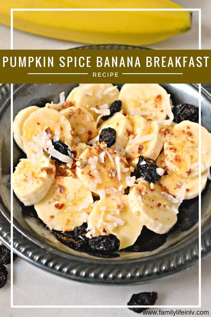 """Pumpkin Spice Banana Breakfast"" ""Healthy Pumpkin Breakfast"" ""Pumpkin spice recipe"" ""Pumpkin Banana Recipe"" ""paleo"""