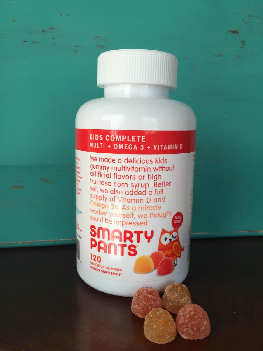 Smarty Pants Vitamins for Kids - Gluten, Yeast, Egg, Milk, Soy, and Nut Free - NO GMOs, artifical flavors or colors.