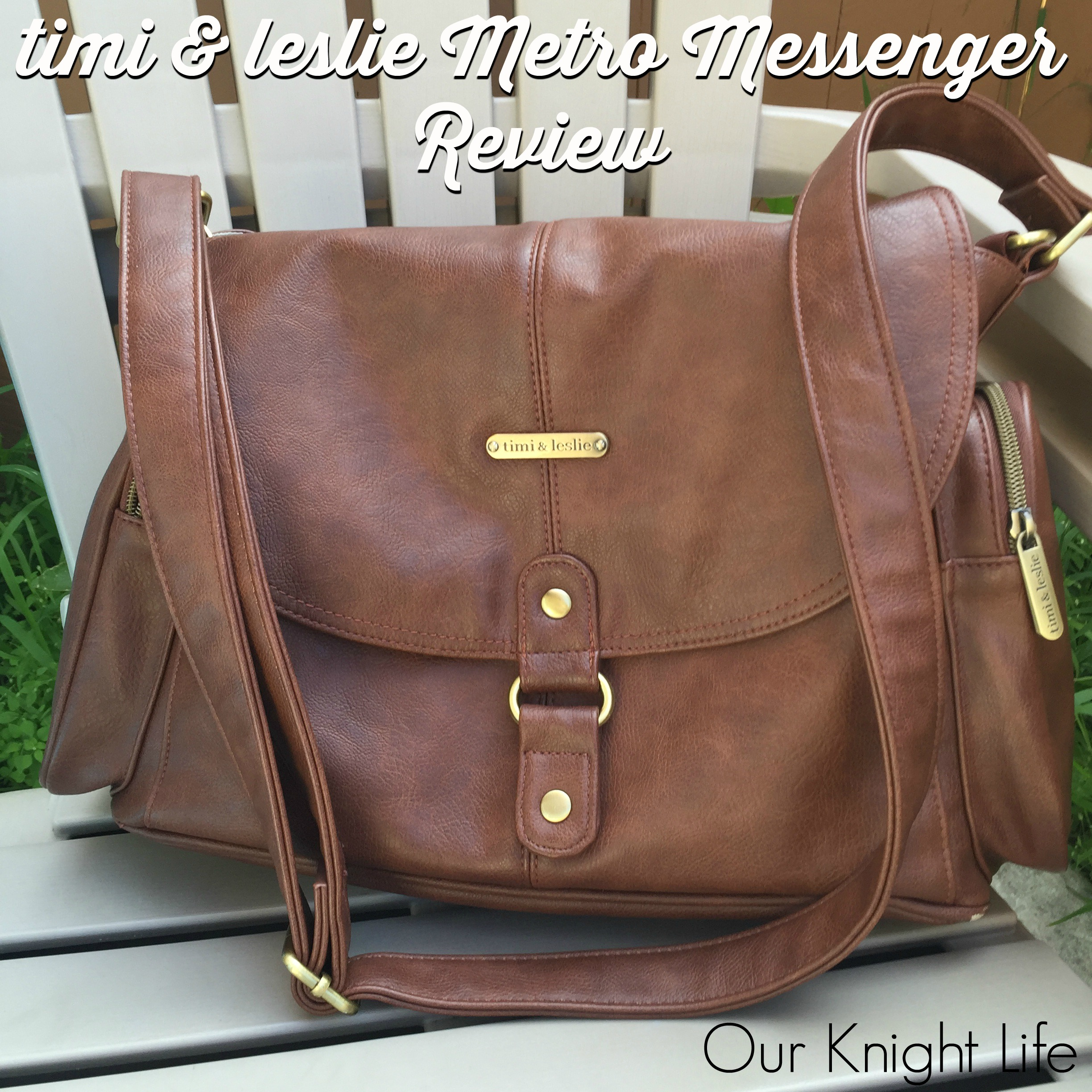 timi&leslie Metro Messenger Diaper Bag Review with Cloth Diapers