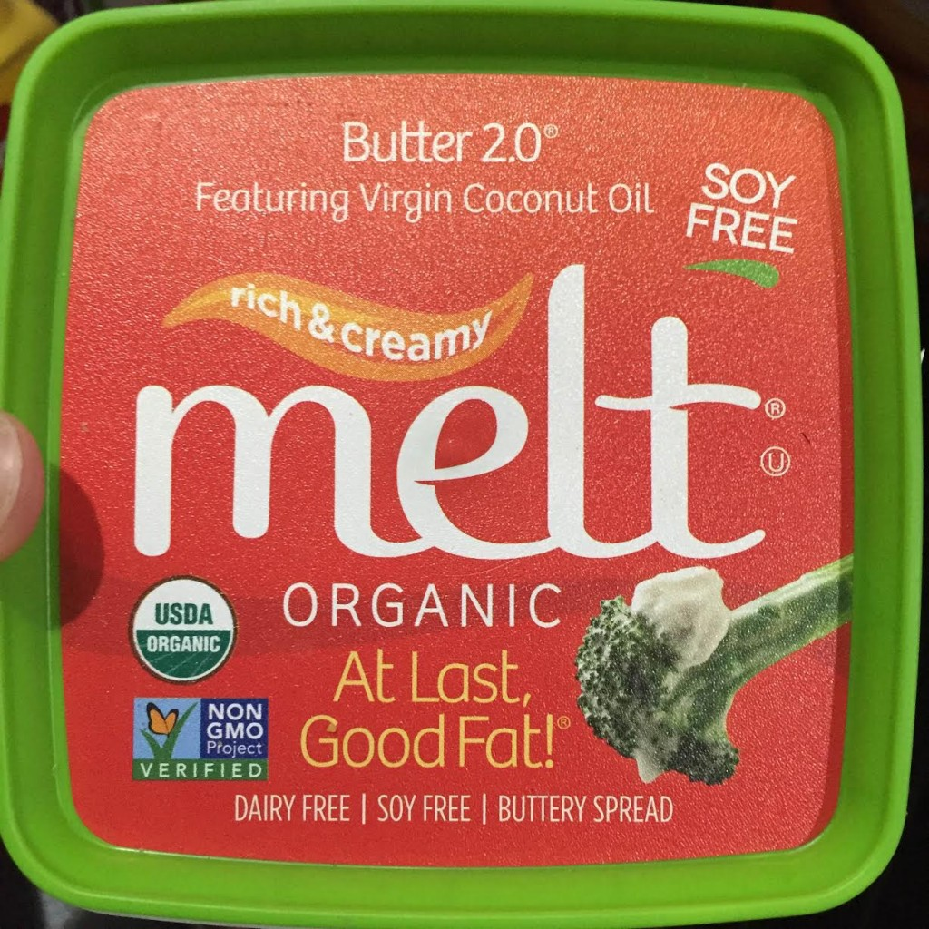 Melt Organic Coconut Oil and Flax Oil spread. Healthy butter alternative