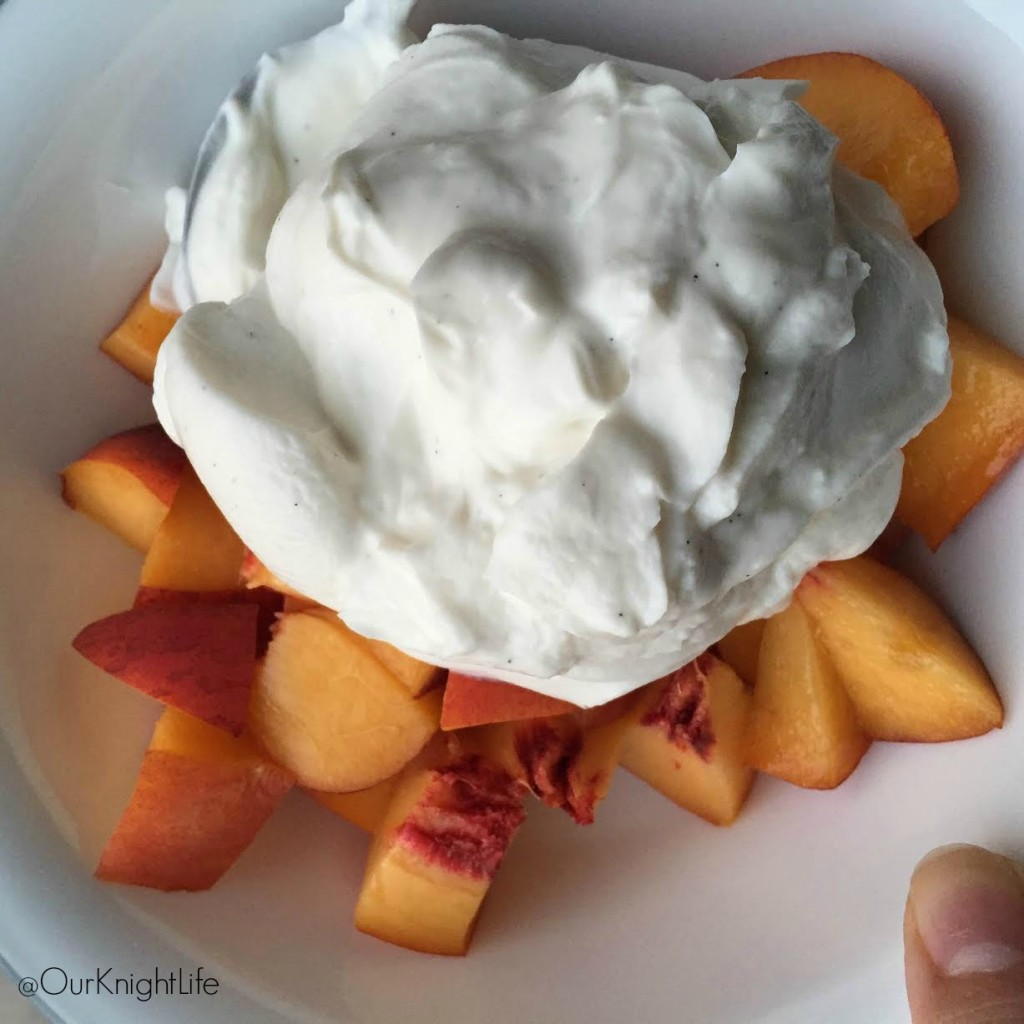 Siggi's Vanilla Yogurt with Peaches