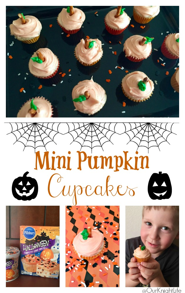 Halloween Mini Pumpkin Cupcakes