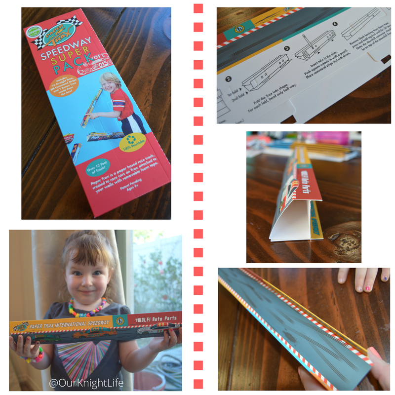 Paper Trax Review Easy race track assembly Matchbox cars